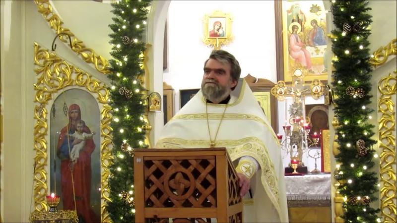 Проповедь протоиерея Романа Гуцу в Неделю по Рождестве Христовом