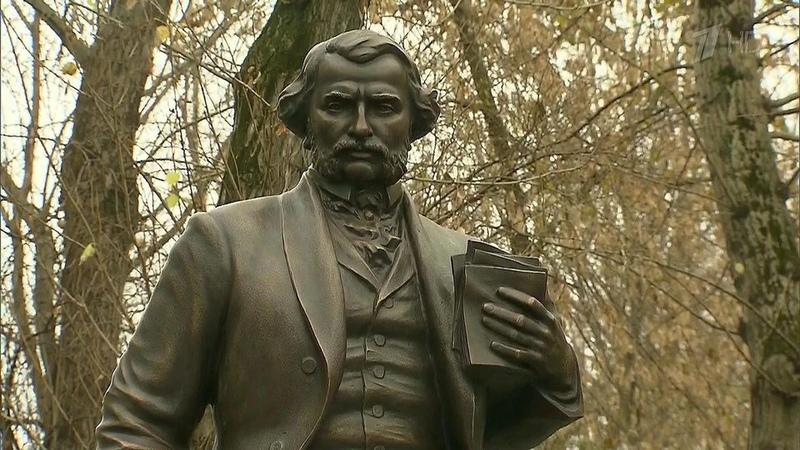 Владимир Путин открыл первый вМоскве памятник писателю Ивану Тургеневу