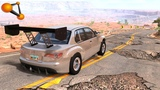 BeamNG.drive - Cars at High Speed on the Destroyed Road