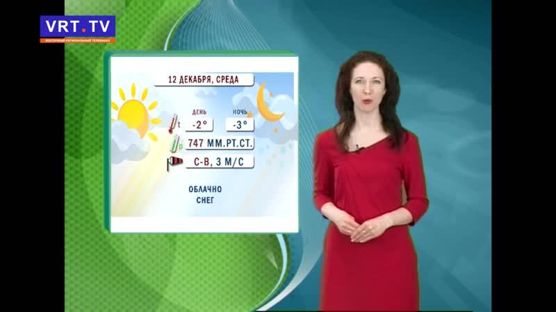 Прогноз погоды на 12 декабря