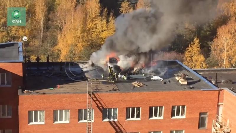 Здание прокуратуры загорелось в Сосновом Бору
