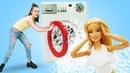 Куклы Барби играем в прачечную. Видео для девочек - Будет исполнено
