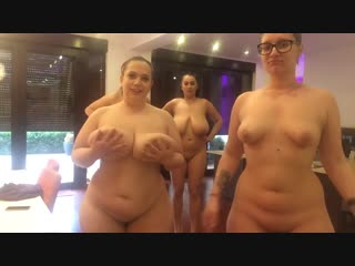 Bbw party 4 толстушки трясут огромными сиськами и жопами [amateur, bbw, big natural tits, big nipples,  homemade, softcore]