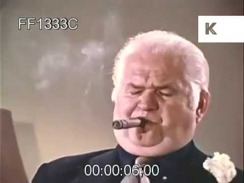 1960s Mob Boss with Cigar, Gangster, Corruption, USA