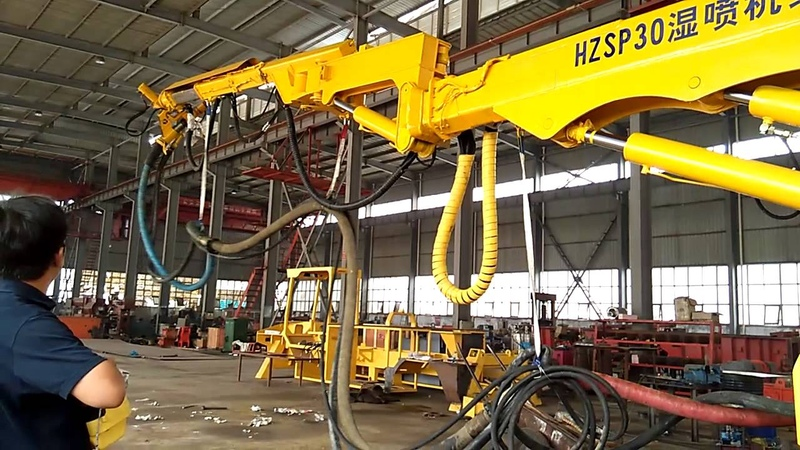 Commissioning of wet type concrete spraying system