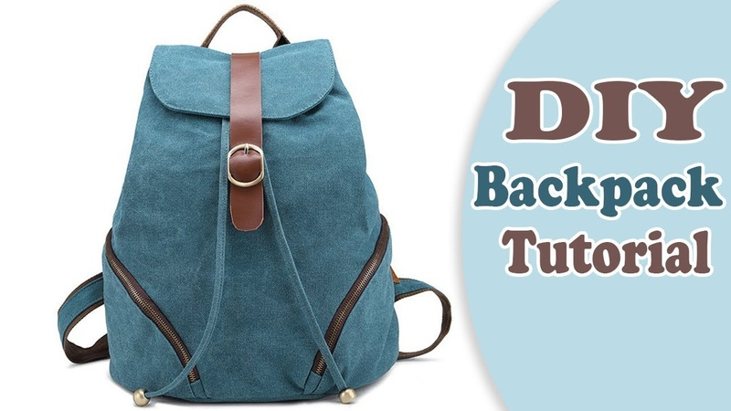 DIY ADORABLE BACKPACK TUTORIAL FROM SCRATCH New Design Easy Way !!