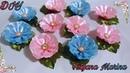 Цветы из атласной ленты 5 см Канзаши МК DIY