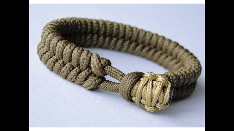 CBYS Suggested Design - Make a Fishtail Knot/Cobra Knot Closure Paracord Survival Bracelet