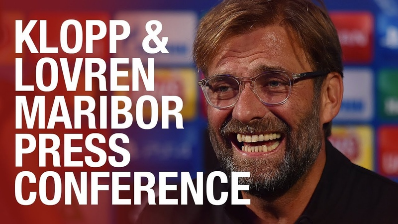 Jürgen Klopp and Dejan Lovren's Maribor Champions League press conference