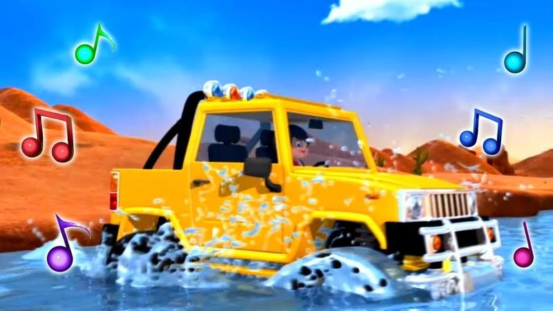 Детские песни про машинки и автобусы Музыкальные мультики Литл Бэйби Бам