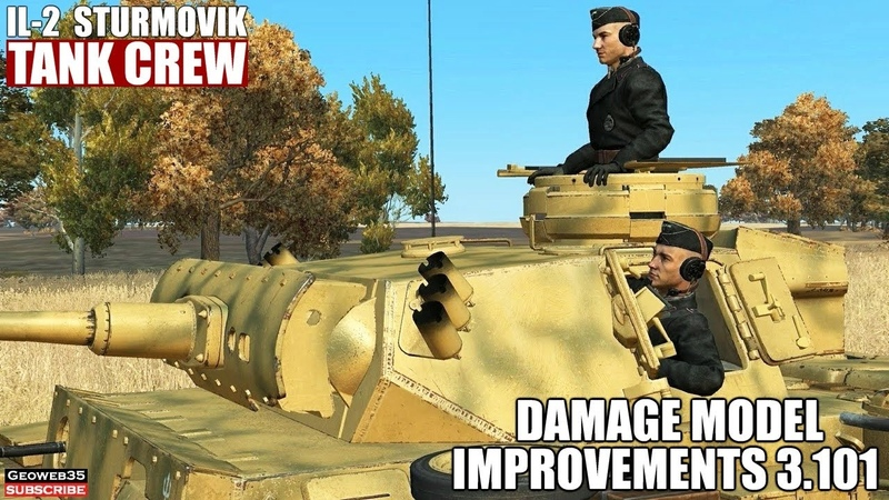 IL-2 Tank Crew Damage Model Improvements Update 3.101 New Animations
