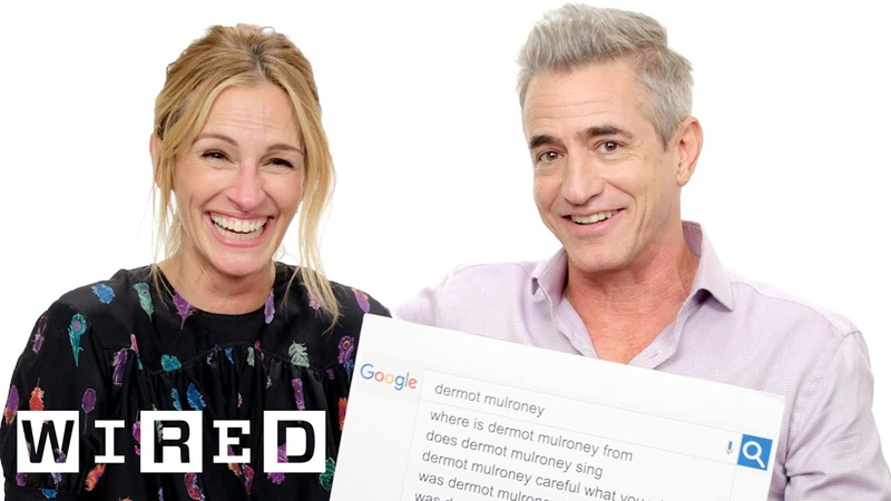 Julia Roberts Dermot Mulroney Answer the Web's Most Searched Questions WIRED