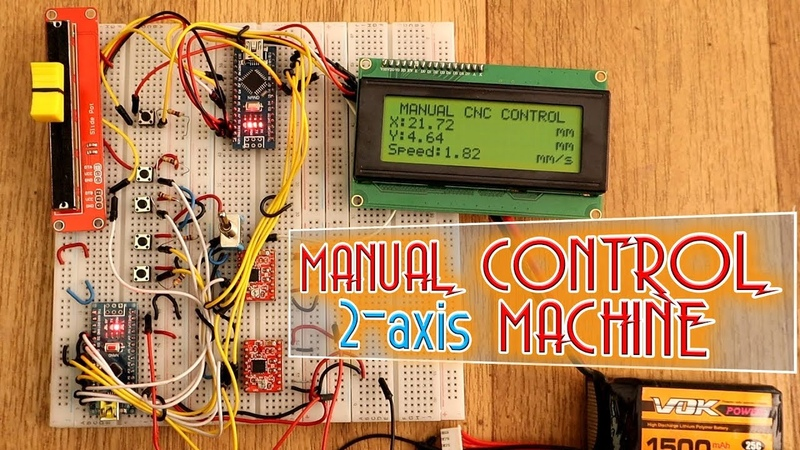 Manual control setup for 2-axis machine