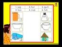Kindergarten phonics - words with the short vowel 'u' sound