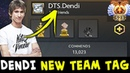 Dendi NEW TEAM tag — reviving DTS or tribute to his first team?