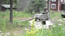 Советский средний танк Т-34-85 в движении. Soviet T-34-85 in action.