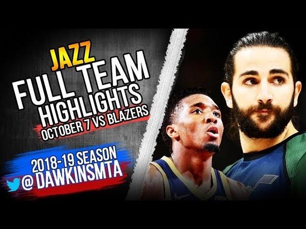 Utah Jazz Full Team Highlights 2018.10.07 at Blazers - 123 Points! | FreeDawkins