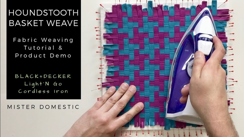 Fabric Weaving: Houndstooth Basket Weave Product Demo with Mister Domestic
