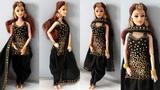 Barbie doll in Ethnic Patiala Salwar Kameez Design How to make Salwar suit for barbie