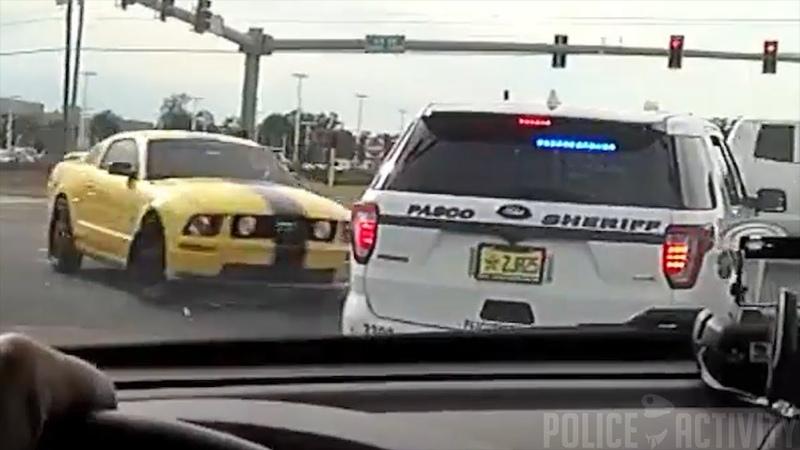 Bodycam Captures Fleeing Robbery Suspect Crashing Into Deputy's Vehicle