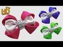 DIY Kreasi pita satin How to make satin ribbon hair clip Kanzashi