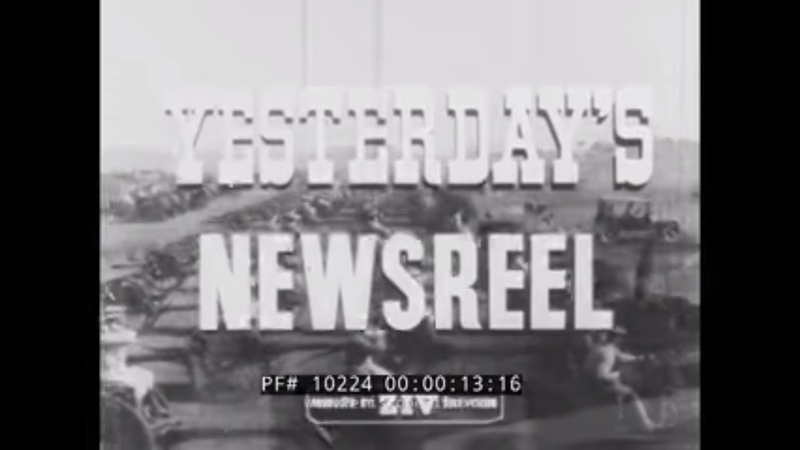 YESTERDAYS NEWSREEL MOVIE STAR MARY PICKFORD WWI OBSERVATION BALLOONS 10224