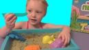 Распаковка детского набора Кинетический песок Песочница дома Домашняя песочница Kinetic sand