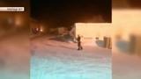 Кипяток за доли секунды превратился в снег (Boiling water in a split second turned into snow)