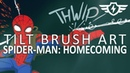 Spider man Homecoming Tilt Brush Art ZAP