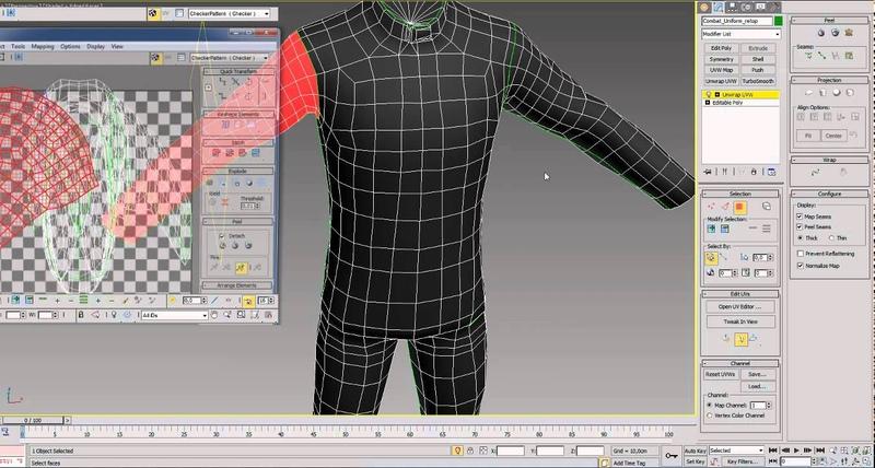 Example unwrap character model (Пример развертки персонажа)