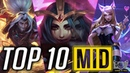 Top 10 Best MID Laner Champions Patch 8.21 | League of Legends