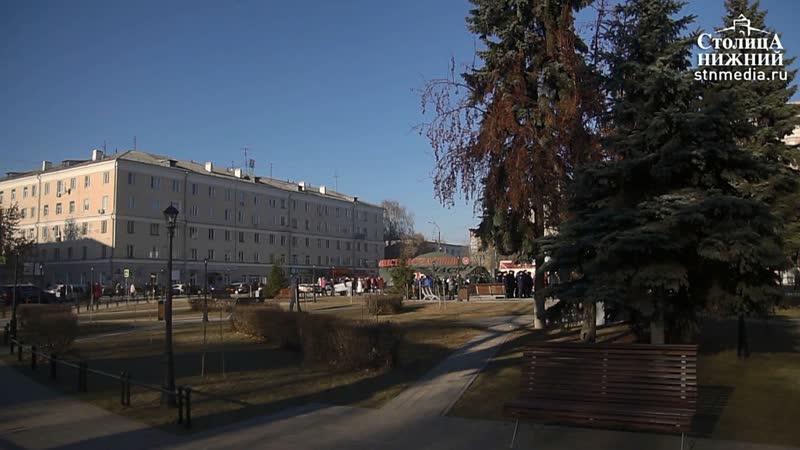 Обновленный сквер открыли после благоустройства в центре Сормова в Нижнем Новгороде