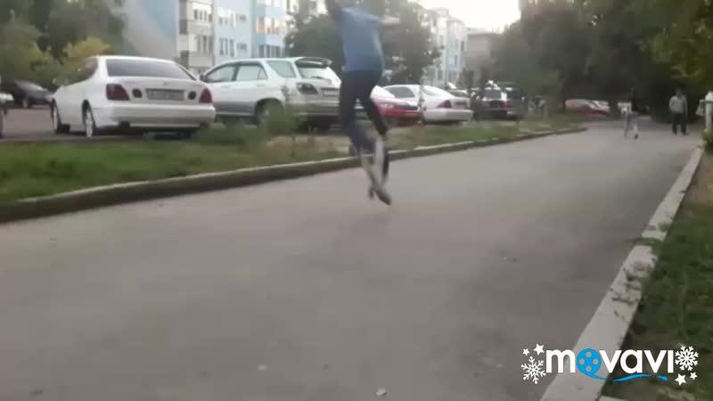 Verial flip on skate