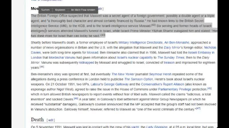 (25) Hintergründe zum Epstein Fall - Wer war Robert Maxwell