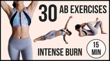30 BEST Ab Exercises in 15 minutes!! Intense TABATA for Flat Belly and Six Pack