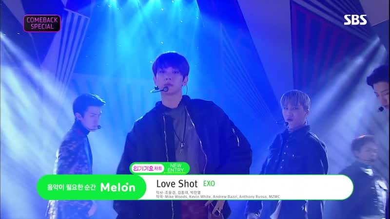 EXO - Love Shot @ Inkigayo 181216