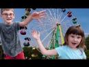 СОНЕ 😱НЕ понравилось кататься 🎡 ДЕНИС чуть 🔥 не разбил 🚘 МАШИНУ ПАРК СОКОЛЬНИКИ Видео для детей