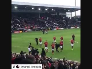 Best fans in the world. best football club in the world. ole's at the wheel!