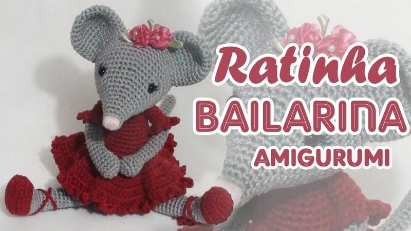 Ratinha bailarina em crochê amigurumi parte1