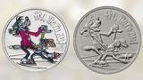 2 монеты Ну, погоди из серии мультипликация.