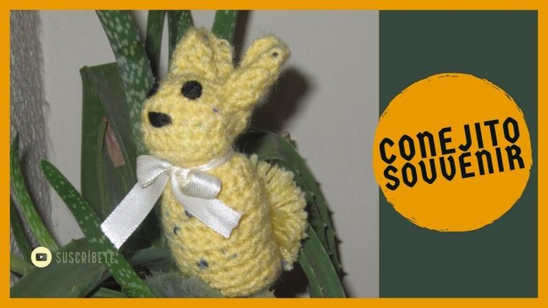 Conejito tejido a crochet (souvenirs para toda ocasión)