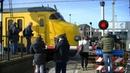 Spoorwegovergang Hoek van Holland Haven Dutch railroad crossing
