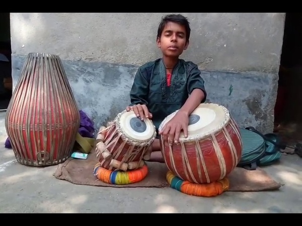 Tabla and khol by Akash Das