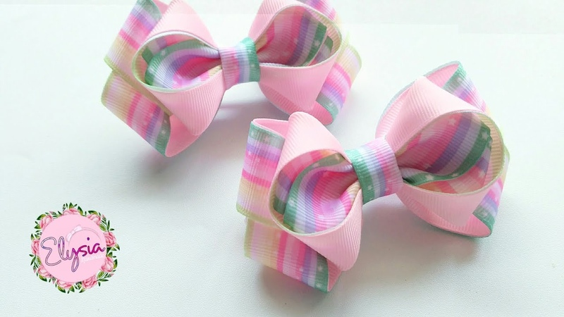 Laço Indria 🎀 Ribbon Bow Tutorial 🎀 DIY by Elysia Handmade