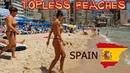 Дамы топлес, а пляж не дикий Бенидорм, Коста Бланка, Испания море Really topless beach Spain