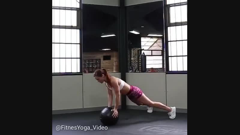 Упражнения с медболом для улучшения силы, выносливости, чувства баланса кардио