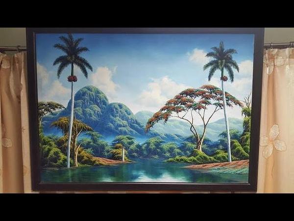 OvLGroup - Картина Пейзаж Кубы. Масло.Холст.Куба.