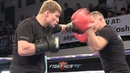I MUST BREAK YOU! ALEXANDER POVETKIN THROWING HEAVY HANDED STRIKES DURING OPEN WORKOUT