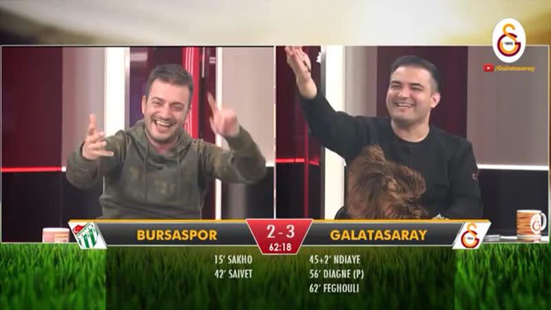 📺 Galatasaray'ımızın, Bursaspor karşısında bulduğu 3. golde GSTV'de yaşananlar! ⚽