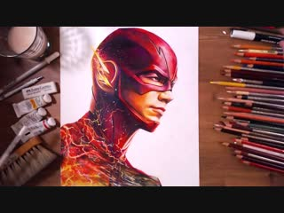 The flash - barry allen (grant gustin) - speed drawing - drawholic